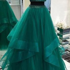 Sexy prom dress Two Pieces evening..