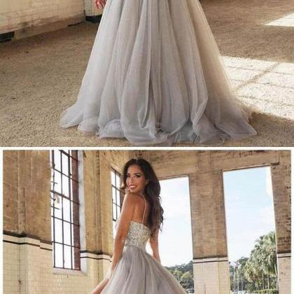 Pretty A-Line evening dress Tulle p..