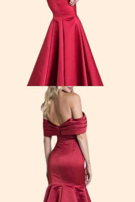 Gorgeous Off the Shoulder Mermaid Prom Dress Elegant Formal Evening Gown ,Custom Made,Party Gown,Cheap Evening dress