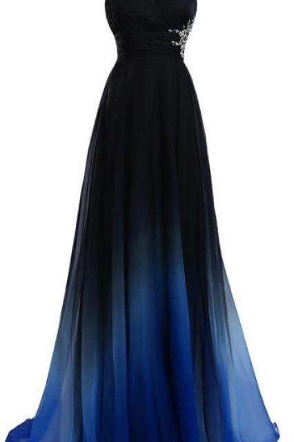 A Line Princess Prom Gowns ,One Shoulder Prom Dress ,Custom Made,Party Gown,Cheap Prom Dress