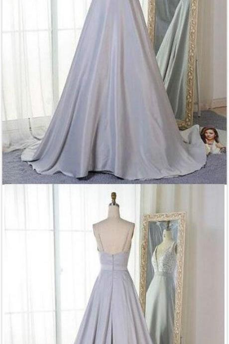 Baby Blue Prom Dress,Simple Prom Dress,mermaid Prom Dress