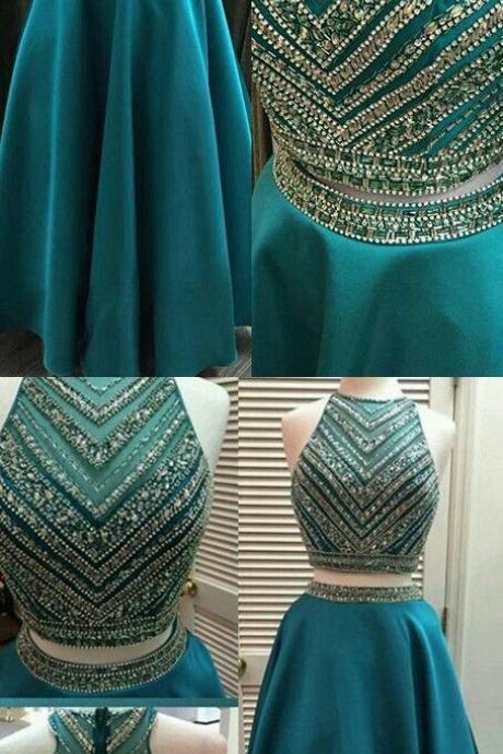 Prom Dresses,Two pieces Prom Dress,Modest Prom Gown,Ball Gown Prom Gown,Princess Evening Dress,,Two piece Evening Gowns