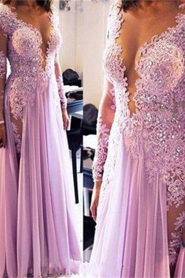 Long Sleeves Prom Dresses,Lace Prom Dresses,Sexy Prom Dresses, Modest Prom Dresses,Party Dresses ,Cocktail Prom Dresses ,Long Prom Dress,Custom Made Evening Dress