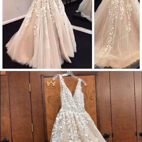 Sexy ball gowns Appliques evening dress A-Line Prom Dresses,Long Prom Dresses,Cheap party Dresses
